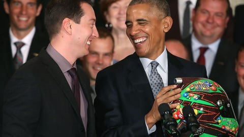 Kyle Busch and Barack Obama, 2016