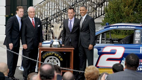 Brad Keselowski and Barack Obama, 2013