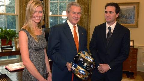 Jimmie Johnson and George W. Bush, 2007