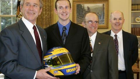 Kurt Busch and George W. Bush, 2005