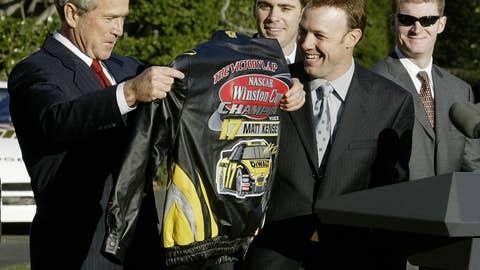 Matt Kenseth and George W. Bush, 2004