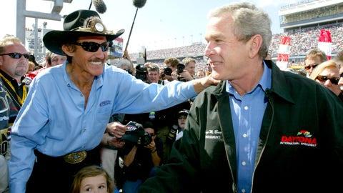 George W. Bush goes to 2004 Daytona 500