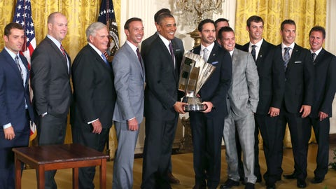 Jimmie Johnson and Barack Obama, 2014