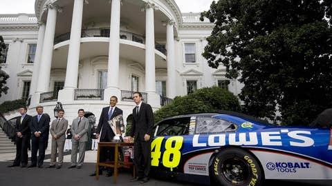 Jimmie Johnson and Barack Obama, 2009
