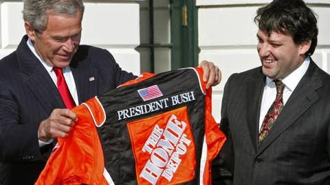 Tony Stewart and George W. Bush, 2006