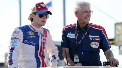 How has it been interacting with NASCAR legends Leonard Wood and Glen Wood while driving for Wood Brothers Racing?