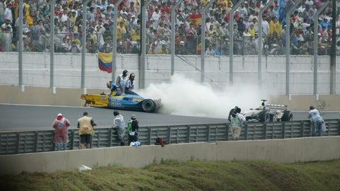 Alonso's race-ending crash
