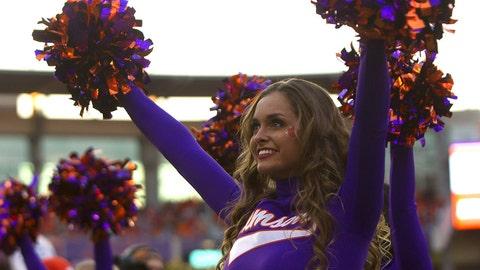 Clemson cheerleader