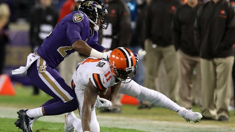 Jimmy Smith, CB, Ravens (back): Out