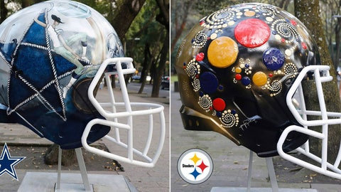 Every NFL helmet redesigned by Mexican artists