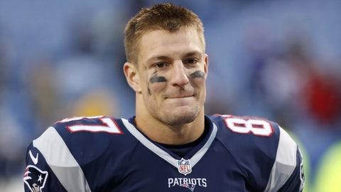 Rob Gronkowski, TE, Patriots (lung):