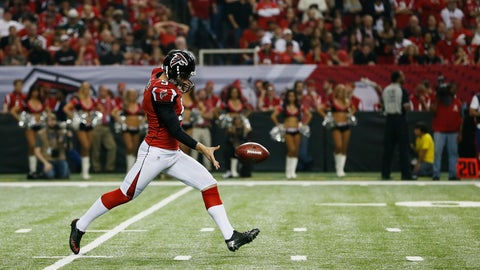 Matt Bosher, P, Falcons (hamstring): Out