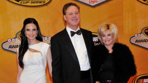 NASCAR's Brian France (center) with wife Amy and mother, Betty Jane France, 2010