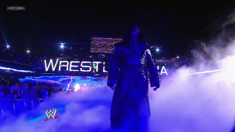 The Undertaker took a full three minutes to enter the ring after walking onto the stage