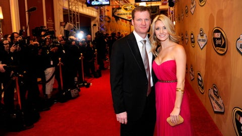 Dale Earnhardt Jr. and wife-to-be Amy Reimann