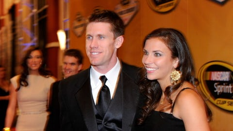 Carl Edwards and wife Kate, 2011
