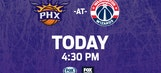 Suns take on Wizards as road trip continues