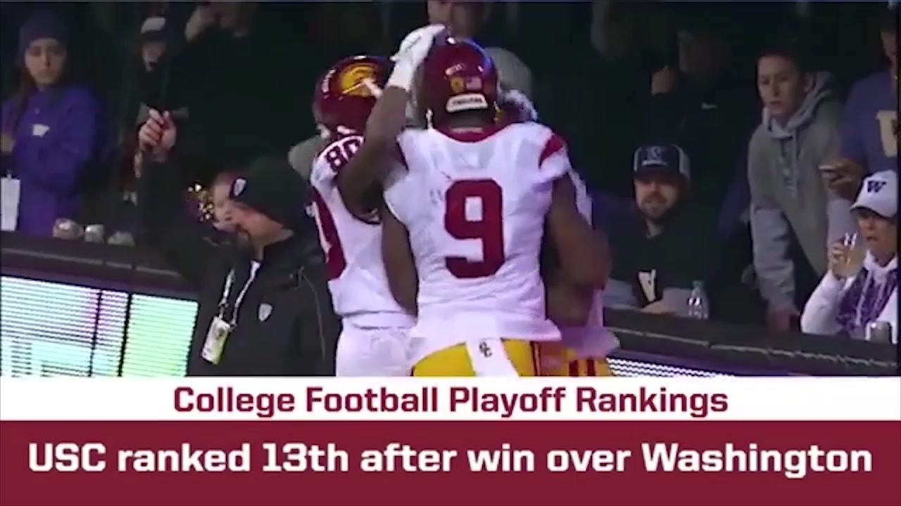 6f7d001c USC ranked 13th after win over Washington | BREAKING THE HUDDLE WITH JOEL  KLATT