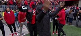 LeBron James and the Cavaliers dance after Ohio State's pick-6