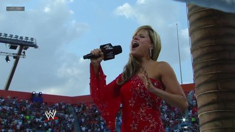 Lilian Garcia performs America The Beautiful