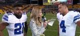 Ezekiel Elliott, Dak Prescott explain Cowboys Week 10 win over Pittsburgh Steelers