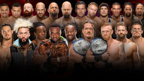 Raw vs. SmackDown tag team elimination