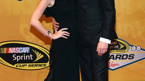 Brad Keselowski and girlfriend Paige White, 2014