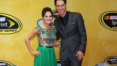 Joey Logano and wife Brittany, 2015