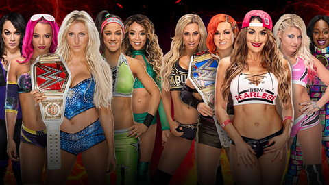 Raw vs. SmackDown women's elimination match