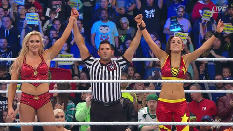 Team Raw defeated Team SmackDown in the women's elimination match