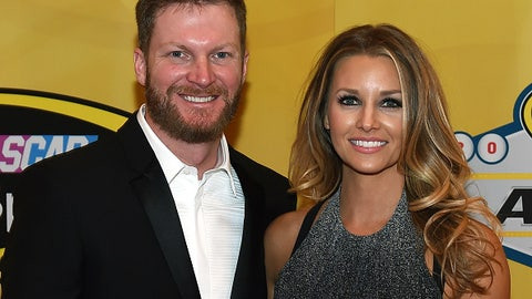 Dale Earnhardt Jr. and fiancee Amy Reimann, 2015