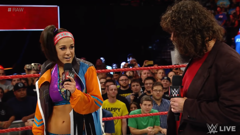 FS: Earlier this month in Glasgow, there was an incredible moment where the crowd sang Bayley's name for the entirety of a promo. What were you thinking when you watched that, and how hard is it as a performer to deal with such a vocal crowd?