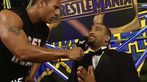 Backstage segment: The Rock and Jonathan Coachman deliver a classic promo