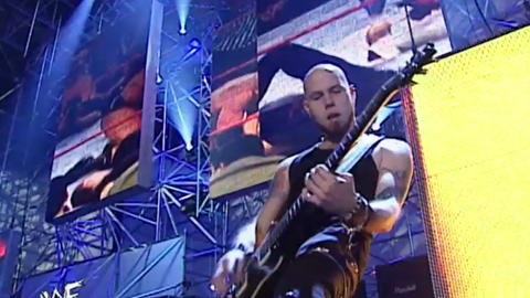 """Drowning Pool """"tells the story"""" of the Triple H-Chris Jericho main event"""