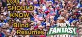 FOX Fantasy Football: WR Blind Resumes