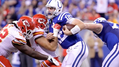 The Indianapolis Colts' offensive line