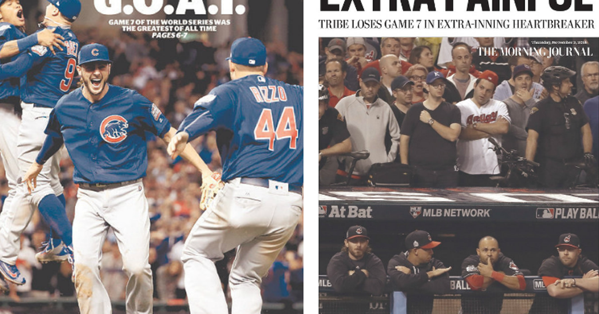 b9a866ed3 Here s Chicago- and Cleveland-area papers  reactions to epic Game 7 ...