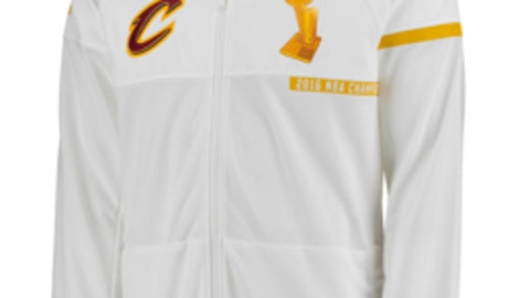 Cleveland Cavaliers adidas White Trophy Ring Banner Jacket