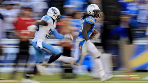 Chargers 43 - Titans 35