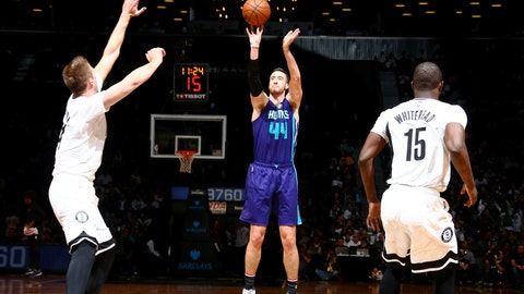 To Charlotte for Jeremy Lamb, Spencer Hawes, Frank Kaminsky and two future first-round picks