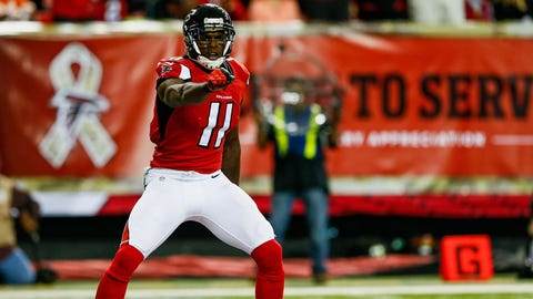 Julio Jones receiving yards OVER 95.5
