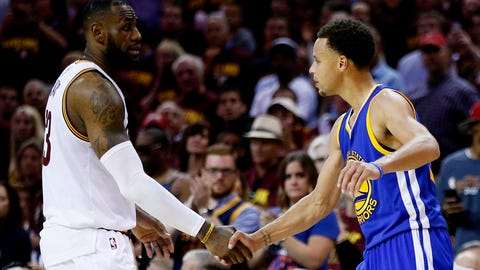 Best teams: Golden State Warriors and Cleveland Cavaliers