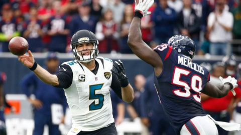 Texans (-1.5) over JAGUARS (Over/under: 42.5)