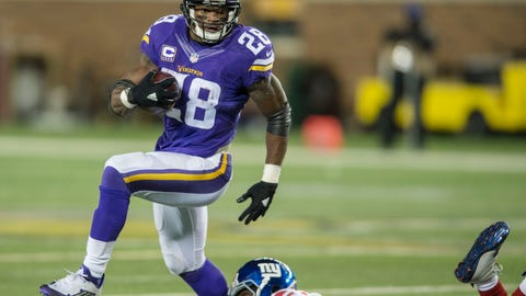 Minnesota Vikings—Adrian Peterson's high knees