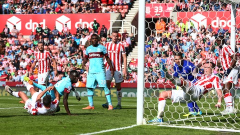 West Ham vs. Stoke City (Saturday, 11 am)