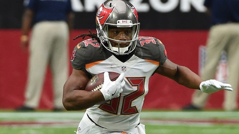 Jacquizz Rodgers, RB, Buccaneers (foot)