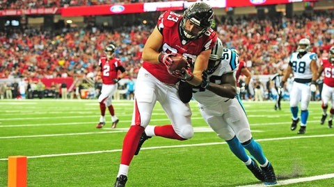 Jacob Tamme, TE, Falcons (shoulder)
