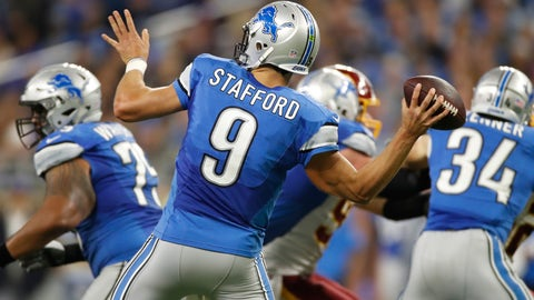 Detroit Lions—Matt Stafford's long ball