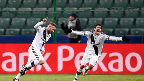 Legia Warsaw steal a crucial point from Real Madrid