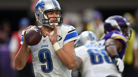 Matthew Stafford passing completions -- OVER 23.5